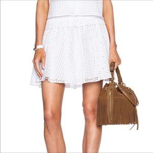 Rag & Bone eyelet white mini skirt